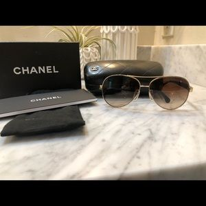 Chanel Matelasse Pilot Sunglasses